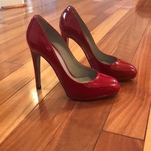Sergio Rossi Red Patent Leather Pumps